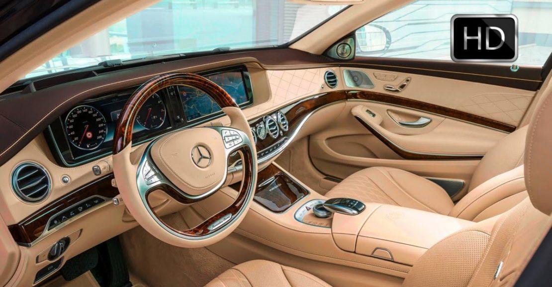 Luxusní auto Mercedes - výbava, interiér