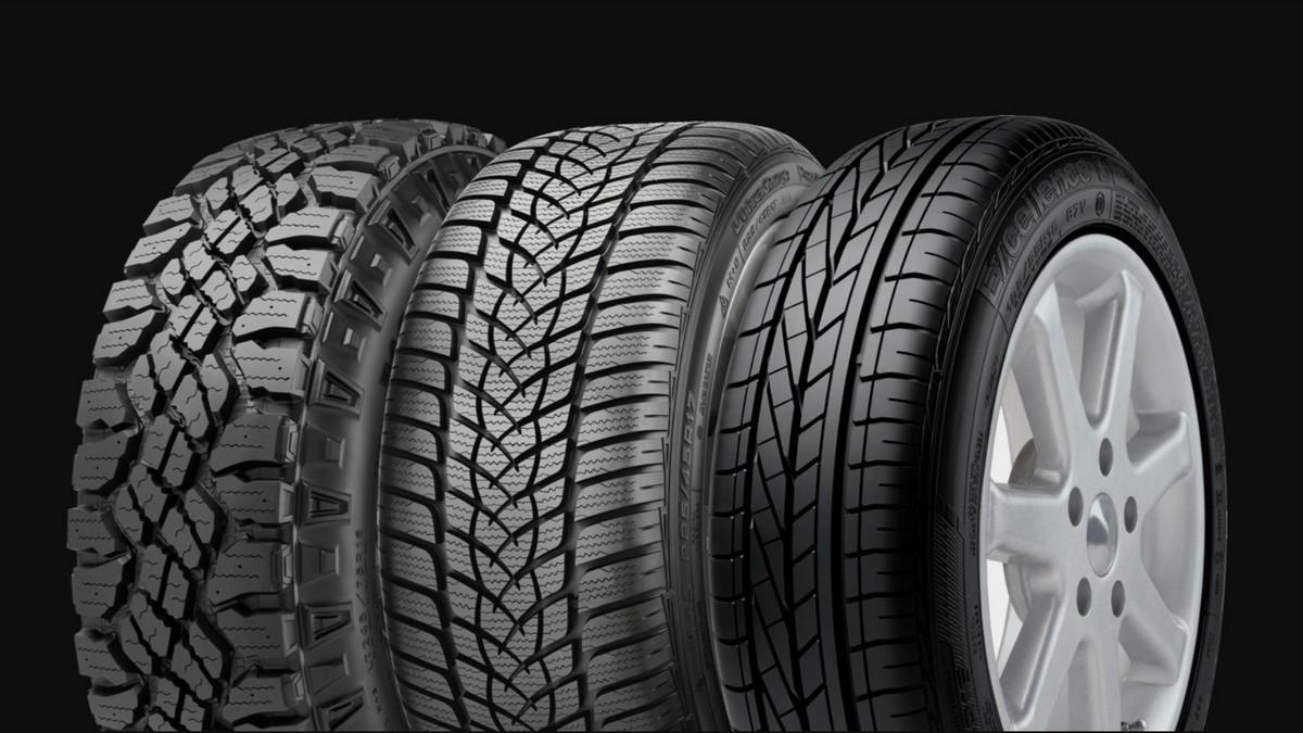 Různé typy pneumatik