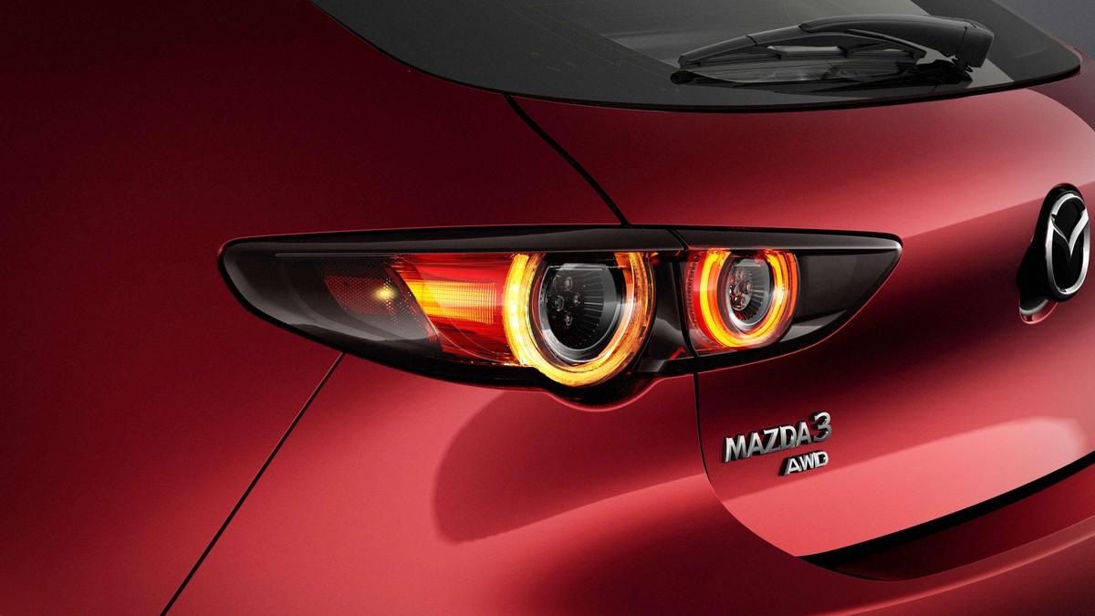 Nová Mazda 3 - zadní světla