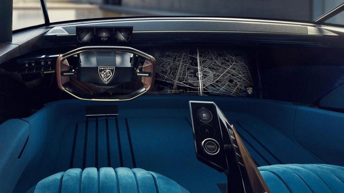 Peugeot e-Legend - ovládací panel