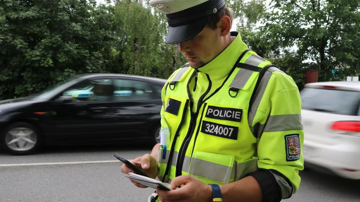 Policie - kontrola řidiče