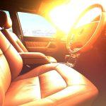 Auto - přehřívání interiéru - slunce a léto